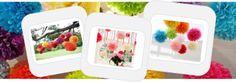 pom poms, tissue paper decoratons, wedding pom poms, venue, party, wedding decorations - pom pom, large tissue paper pom poms - RSVP Party E...