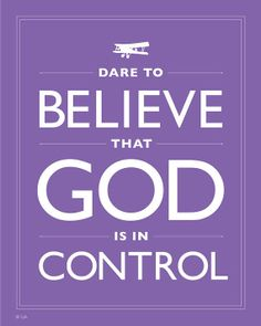 Purple Faith Print Dare To Believe That God Is In by Inspireuart, $20.00