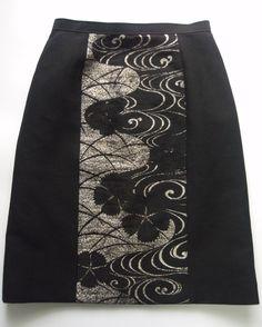 イメージ 2                                                                                                                                                                                 もっと見る Kimono Fabric, Kimono Dress, Kimono Jacket, Kimono Style, Kimono Fashion, Skirt Fashion, Handmade Clothes, Sewing Clothes, Clothing Patterns