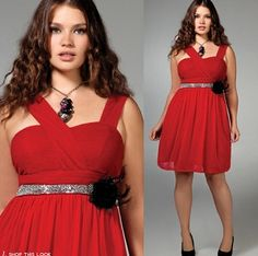 love this belt with this red dress