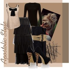 A fashion look from November 2013 featuring rag & bone t-shirts, Yves Saint Laurent skirts and Timeless pumps. Browse and shop related looks.