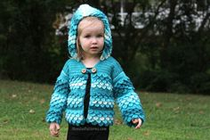 Crocodile Stitch Hooded Baby and Toddler Sizes Crochet Pattern by bonitapatterns on Etsy
