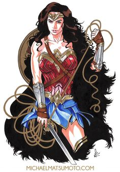 Wonder Woman - Pencil/Ink/MultiChromatic by mkmatsumoto Wonder Woman Fan Art, Gal Gadot Wonder Woman, Wonder Woman Comic, Wonder Woman Cosplay, Wander Woman, Woman Singing, Thor, Hero Girl, Comics Girls