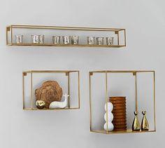 Cube Display Shelves #potterybarn