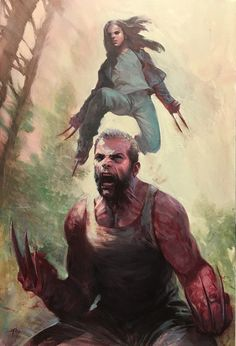 Marvel Comics – Logan and Laura / Wolverine and lithograph signed by artist Gabriele Dell'Otto London Super Comic Con Exclusive - Limited Edition only 30 produced! Marvel Wolverine, Logan Wolverine, Marvel Dc Comics, Heros Comics, Bd Comics, Marvel Art, Marvel Heroes, Captain Marvel, Wolverine Movie