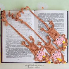 Monkey Bookmarks Pattern by Little Owl's Hut
