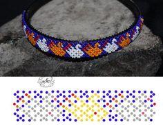 Photo Beaded Flowers Patterns, Beaded Necklace Patterns, Bead Loom Patterns, Bracelet Patterns, Beaded Earrings, Netted Bracelet, Bangle Bracelets, Collar Redondo, Beard Jewelry