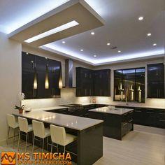 stunning modern dream kitchen design ideas and decor 1 < Home Design Ideas Kitchen Ceiling Design, Pop Ceiling Design, Luxury Kitchen Design, Kitchen Room Design, Contemporary Kitchen Design, Home Decor Kitchen, Interior Design Kitchen, Kitchen Ideas, Cheap Kitchen