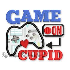 Game On Cupid Valentine's Day Machine Embroidery Design