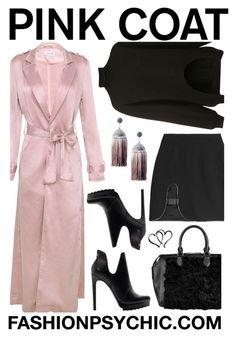 """Satin Coat"" by fashionpsychic ❤ liked on Polyvore featuring Marni, David Koma, Zara, Michael Kors, Ricardo Rodriguez and pinkcoats"