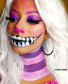 Cheshire Cat Halloween Costume, Cool Halloween Makeup, Diy Halloween Costumes, Halloween 2020, Halloween Make Up, Costume Ideas, Cheshire Cat Face Paint, Cheshire Cat Makeup, Chesire Cat