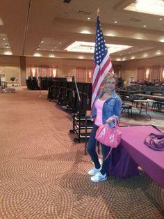 Sala in preparazione per il grande evento di Orlando in Florida. Gennaio 2014.
