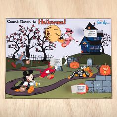 Disney Halloween Countdown Calendar | 31 Days of Disney Halloween Crafts & Recipes | Disney | Disney Family.com