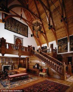 Carpet color. Wall color. english tudor interiors   Take a virtual ...