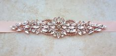 Rose gold belt rose gold bridal belt wedding belt rose