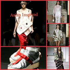 Runway inspiration for Asian Inspired style for spring 2013...