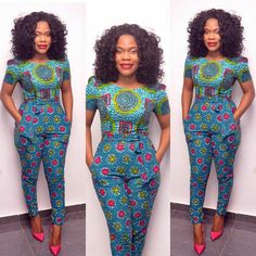 African Ankara Jumpsuit Designs Here we accept Ankara Jumpsuit Designs for this season! We accept anxiously called the New Ankara Jumpsuit designs African Print Clothing, African Print Dresses, African Fashion Dresses, African Dress, African Prints, Ghanaian Fashion, Ankara Fashion, African Inspired Fashion, African Print Fashion