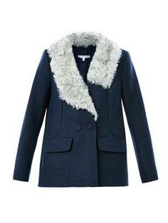 1f21869019a8 Carven Faux-fur drape collar jacket Carven