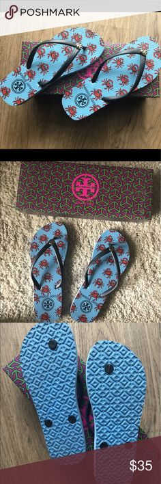 Tory Burch Flip Flops Tory Burch thin thong Flip Flop. Wore 1 time. Almost new. With box. Purchased from Bloomingdale's. Tory Burch Shoes Sandals