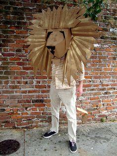 The Lion King - Disney Inspired Cardboard Lion Cardboard Costume, Cardboard Mask, Cardboard Sculpture, Cardboard Crafts, Paper Crafts, Diy Crafts, Costumes Faciles, Lion King Costume, Lion King Jr