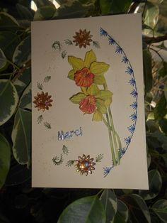 cartes brodées et perlées ...