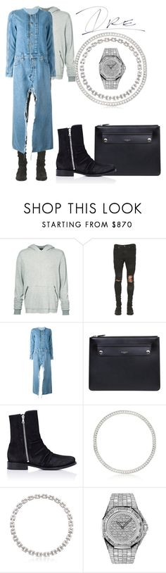 """Dr. Denim"" by stylinwitdre ❤ liked on Polyvore featuring AMIRI, Unravel, Givenchy, Cartier, Roberto Coin, Audemars Piguet, men's fashion and menswear"