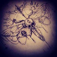 Skull butterfly!!