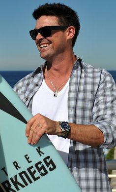 Karl Urban. SubCategory A: Dear God, It's Beautiful. SubCategory B: How Dare You Be So Damn Adorably Sexy, Mr. Urban. For Shame! SubCategory C: Never Stop. EVER. SubCategory D: The Watch Kink... I Cannot.