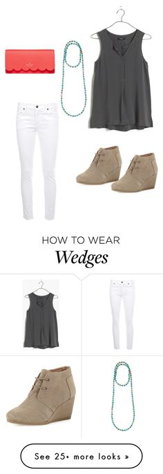 """""""Untitled #37"""" by callieoneill on Polyvore featuring Madewell, Bettina Duncan, Citizens of Humanity, Kate Spade, TOMS, women's clothing, women, female, woman and misses"""