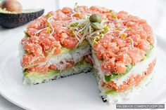 Sushi cake. Man. Alive. I. WANT. THIS. EVERY. SINGLE. DAY. OF. MY. LIIIFFEEE.