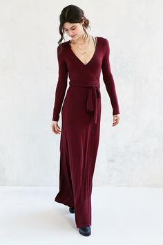 Ecote Exaggerated Wrap Maxi Dress