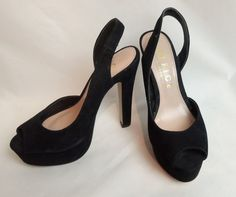 OFFICE SIDESTEP LADIES PEEP TOE SHOES SIZE 6 WITH 6 INCH HEELS
