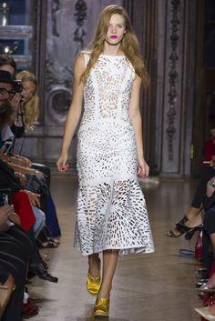 amazing leather laser cutout dress : London Fashion Week Spring 2013 RTW: Giles