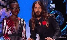 Pin for Later: A Public Plea to Jared and Lupita: You Guys Need to Date, Immediately And that waist grab was a thing of beauty.