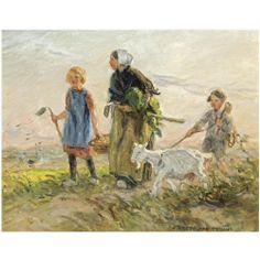 Jan Zoetelief Tromp  1872-1947 Returning from the fields