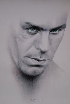 Rammstein Till Lindemann Unknown artist by ModLoveVintageshop