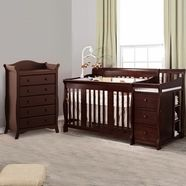 Newly available in nursery sets w/ baby crib and another piece of your choice- Storkcraft Portofino Convertible Crib Changer Combo in Cherry