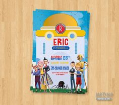 Personalized Meet The Robinsons Invite digital by PartyPopPrints
