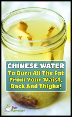 Chinese Water To Burn All The Fat From Your Waist, Back And Thighs! - Below is a Chinese Water To Burn All The Fat From Your Waist, Back And Thighs! This is a safe and f - Fat Burning Detox Drinks, Fat Burning Foods, Diet Drinks, Healthy Drinks, Healthy Foods, Detox To Lose Weight, Vinegar Detox Drink, Healthy Detox, Healthy Water