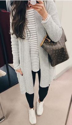 Fall Outfits With Long Cardigans Herbstmode Outfits Strickjacke Fall Fashion Outfits, Fall Fashion Trends, Fall Winter Outfits, Winter Fashion, Casual Outfits, Womens Fashion, Casual Winter, Winter Dresses, Fashion Top
