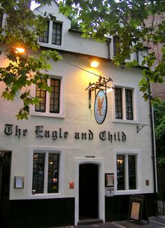 Eagle and Child in Oxford - where C.S. Lewis and J.R.R. Tolkien used to go