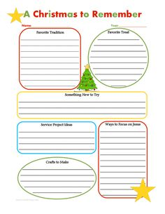 Christmas traditions survey for kids to fill out