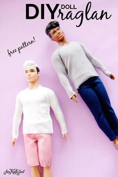 Trendy sewing patterns for kids toys barbie dolls Diy Ken Doll Clothes, Sewing Barbie Clothes, Barbie Sewing Patterns, Sewing Patterns For Kids, Sewing Dolls, Clothing Patterns, Free Doll Clothes Patterns, Dress Patterns, Shirt Patterns