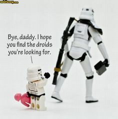 Stormtrooper is going to disappoint his child today.