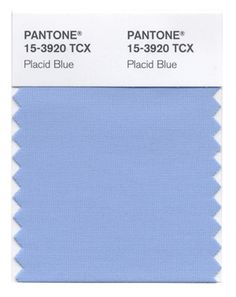 """Pantone's Spring 2014 colors. 9. Placid Blue, """"a picture-perfect, tranquil and reassuring sky"""""""