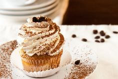 Tiramisu Cupcakes  recipe found here:  http://www.jasonandshawnda.com/foodiebride/archives/2933