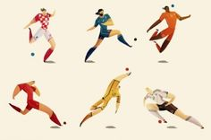 World Cup Players Illustrations