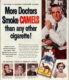 vintage smoking ad...love using these in class for persuasive techniques.