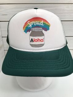 97da3caa462 Hawaii Snapback Hat Aloha Jar Rainbow Love Trucker Mesh Island Cap Snap  Back  Unbranded