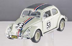 Hot Wheels ELITE 1/18 Disney The Love Bug Herbie Goes To Monte Carlo 1962 VW Volkswagen Beetle Diecast Car Model BLY22